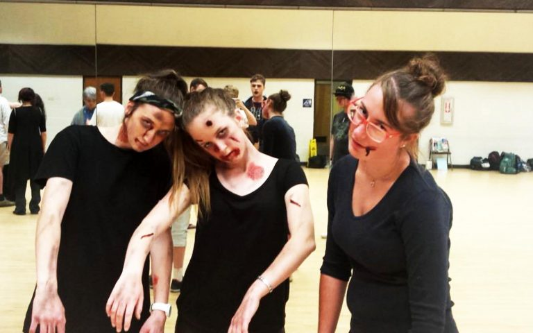 Zombie dance performance