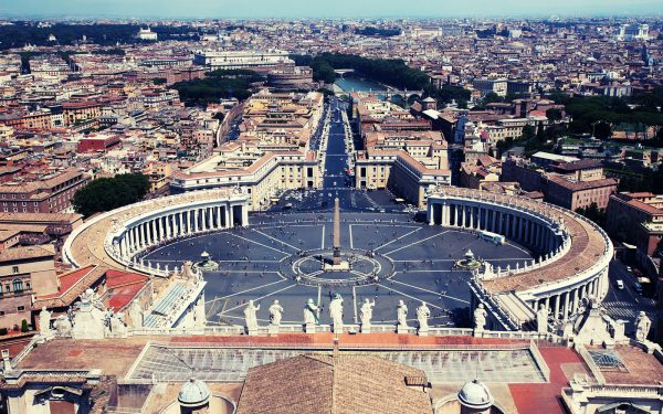 St Peter's Square and view Rome Panoramic Tour