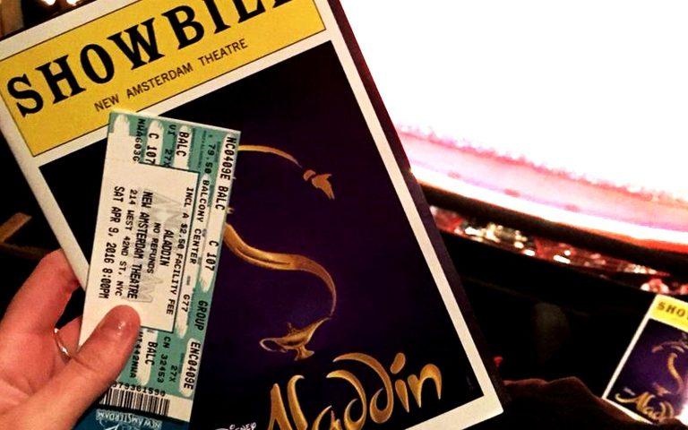 Tickets to Aladdin in New Amsterdam theatre