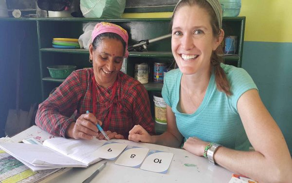 Teaching numbers Community Service Learning Tour India