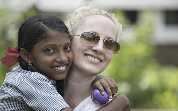 Big hug Community Service Learning Tour India