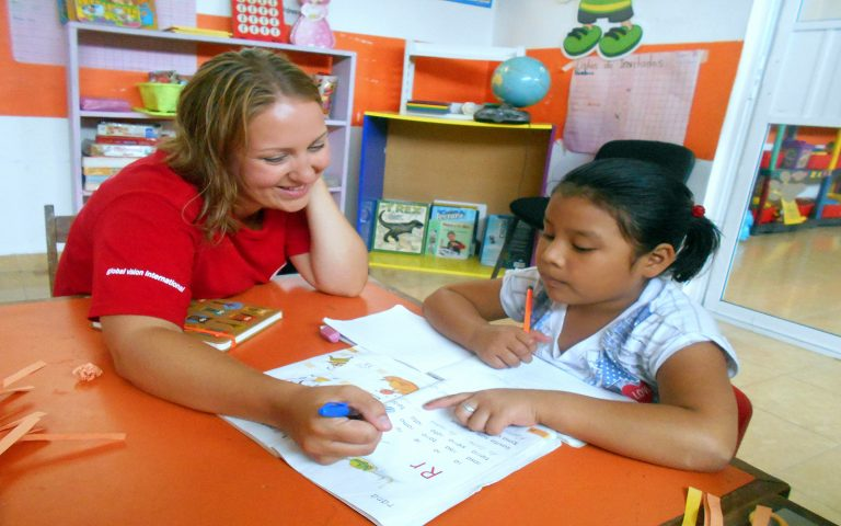 One on one class Service Learning Tour Mexico