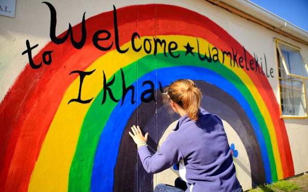 Painting a Rainbow Construction Service Learning Tour Cape Town Wouth Africa