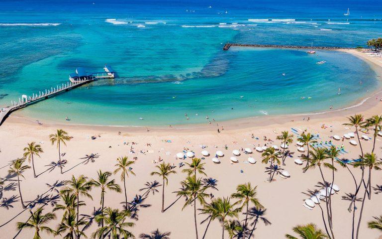 Waikiki beach from above