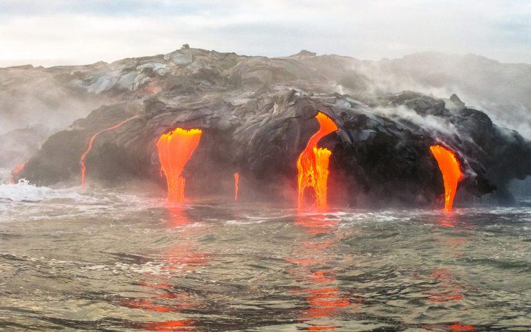 Hawaii lava stream