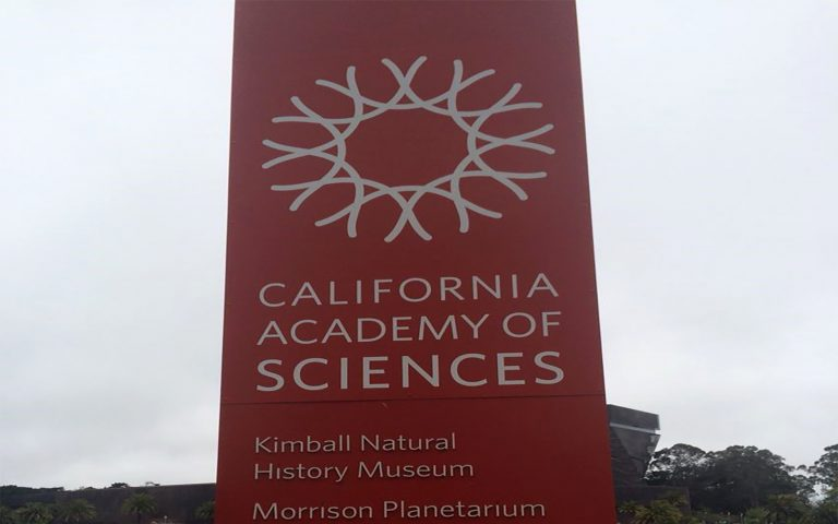 California Academy of Sciences sign
